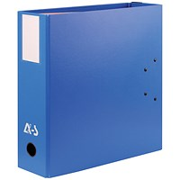 Arianex Double Capacity A4 Lever Arch File, 2x50mm Spines, Blue