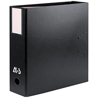 Arianex Double Capacity A4 Lever Arch File, 2x50mm Spines, Black