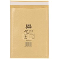 Jiffy Airkraft No.1 Bubble Bag Envelopes, 170x245mm, Gold, Pack of 100