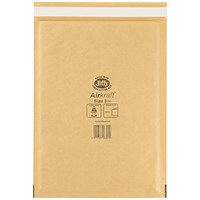 Jiffy Airkraft No.3 Bubble Bag Envelopes, 205x320mm, Gold, Pack of 50