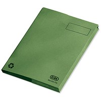 Elba Clifton Back Pocket Flat Files / 50mm / Foolscap / Green / Pack of 25