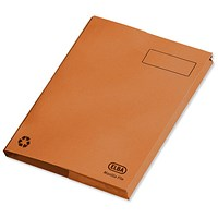 Elba Clifton Back Pocket Flat Files / 50mm / Foolscap / Orange / Pack of 25