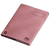 Elba Clifton Back Pocket Flat Files / 50mm / Foolscap / Pink / Pack of 25