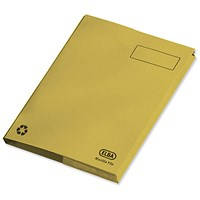 Elba Clifton Back Pocket Flat Files / 50mm / Foolscap / Yellow / Pack of 25
