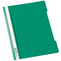 Durable A4 Clear View Folders, Extra Wide, Green, Pack of 50