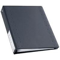 Durable CD & DVD Index 40 Ring Binder with 10 Pockets for 40 Disks, A4, Charcoal