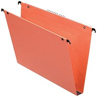 Esselte Orgarex Suspension File, Square Base, 30mm Capacity, A4, Orange, Pack of 25
