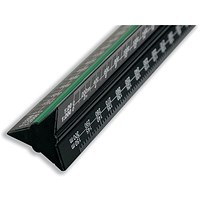 Linex Scale Ruler, Triangular, Aluminium, Colour-coded, 1-1 to 1-2500, 300mm