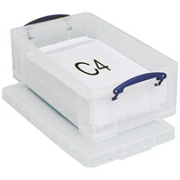 Really Useful Storage Box, 12 Litre, Clear