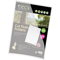 SSeco Cut Flush Folders, A4, Oxo-biodegradable, Pack of 100