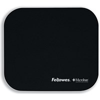 Fellowes Microban Mousepad, Antibacterial, Non-slip, Black