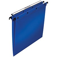 Elba Ultimate Suspension Files, V Base, 15mm Capacity, Foolscap, Blue, Pack of 25