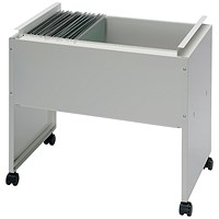 Steel Filing Trolley, Capacity: 120 A4 or Foolscap Files, Grey