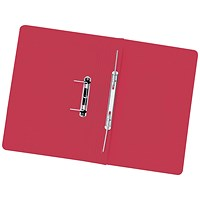 5 Star Transfer Files, 315gsm, Foolscap, Red, Pack of 50