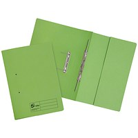 5 Star Pocket Transfer Files, 315gsm, Foolscap, Green, Pack of 25