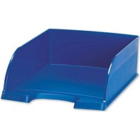 Leitz Jumbo Letter Tray, Deep-sided with 2 Label Positions, Blue