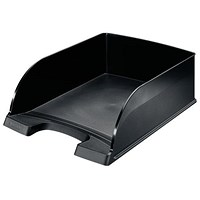 Leitz Jumbo Letter Tray, Deep-sided with 2 Label Positions, Black