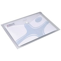 Rexel A4 Ice Wallets, Clear, Pack of 5