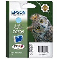 Epson T0795 Light Cyan Claria Inkjet Cartridge
