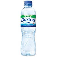 Buxton Natural Still Mineral Water - 24 x 500ml Plastic Bottles
