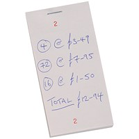 Kitchen Pad with Counterfoil, Numbered 1-100, 63x127mm, Pack of 50
