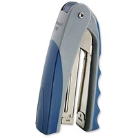 Rexel Centor Half Strip Stapler for 26/6 & 24/6 Staples, 20 Sheets Capacity, Silver & Blue