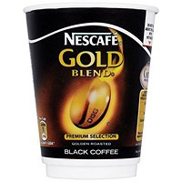 Nescafe & Go Gold Blend Black Coffee - Sleeve of 8 Cups