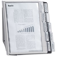 Durable Complete Display Wall Unit, 10 Index Tabs with 5 Black & 5 Grey Panels, A4