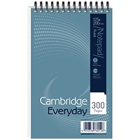 Cambridge Headbound Wirebound Notebook, 125x200mm, Ruled, 300 Pages, Pack of 5