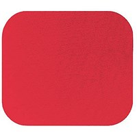 Fellowes Economy Mousepad, Rubber Sponge backing, Non-slip Base, Red