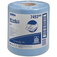 Wypall L10 Centrefeed Wiper Refills, 1-Ply, Blue, 6 Rolls of 525 Sheets