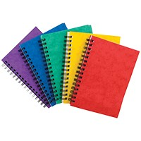 Sidebound Notebook, A6, Ruled, 120 Pages, Colour Assortment A, Pack of 10