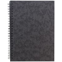 Sidebound Notebook, A5, Ruled, 120 Pages, Black, Pack of 10