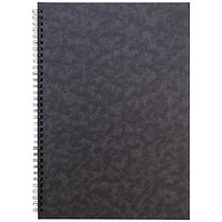 Sidebound Notebook, A4, Ruled, 120 Pages, Black, Pack of 10