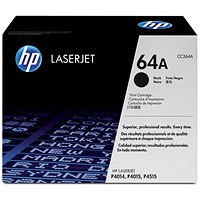 HP 64A Black Laser Toner Cartridge