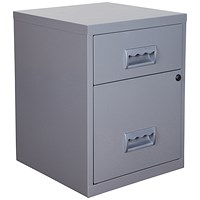 Pierre Henry A4 Combo Filing Unit Cabinet, 2-Drawer, Silver