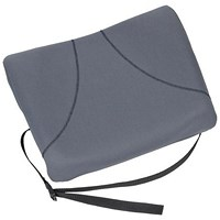 Fellowes Slimline Back Support / Soft-touch Fabric with Adjustable Strap / Graphite