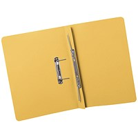 5 Star Transfer Files, 380gsm, Foolscap, Yellow, Pack of 25