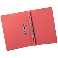 5 Star Transfer Files, 380gsm, Foolscap, Red, Pack of 25