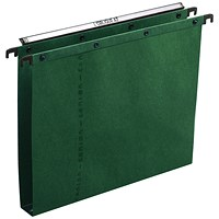 Elba Ultimate A20 Suspension Files, Square Base, 30mm Capacity, Foolscap, Green, Pack of 25