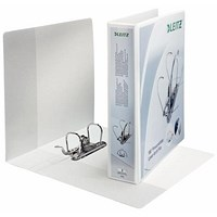 Leitz A4 Presentation Mini Lever Arch Files, 180 Degree Opening, 50mm Spine, White, Pack of 10