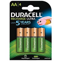 Duracell StayCharged Long-life Rechargeable Battery, 1950mAh, AA, 1.2V