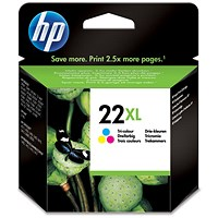HP 22XL Colour High Yield Ink Cartridge