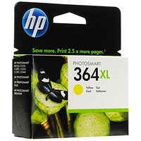 HP 364XL High Yield Yellow Ink Cartridge