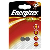 Energizer Alkaline LR54/LR1130 Button Cell Battery, 1.5V, Pack of 2