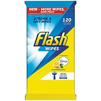Flash All Purpose Cleaning Wipes Lemon Fragrance - Pack of 120
