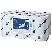 Tork enMotion Hand Towel Rolls, Continuous, 2-Ply, 150m, White, 6 Rolls