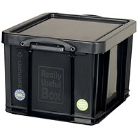 Really Useful Storage Box, 35 Litre, Black