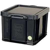 Really Useful Storage Box, 42 Litre, Black