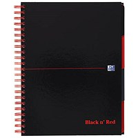 Black n' Red Project Book, A4, Ruled & Perforated, 200 Pages, Pack of 3